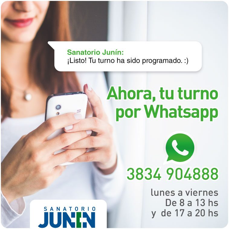 Ahora, reservá tu turno por Whatsapp – Sanatorio Junín Catamarca